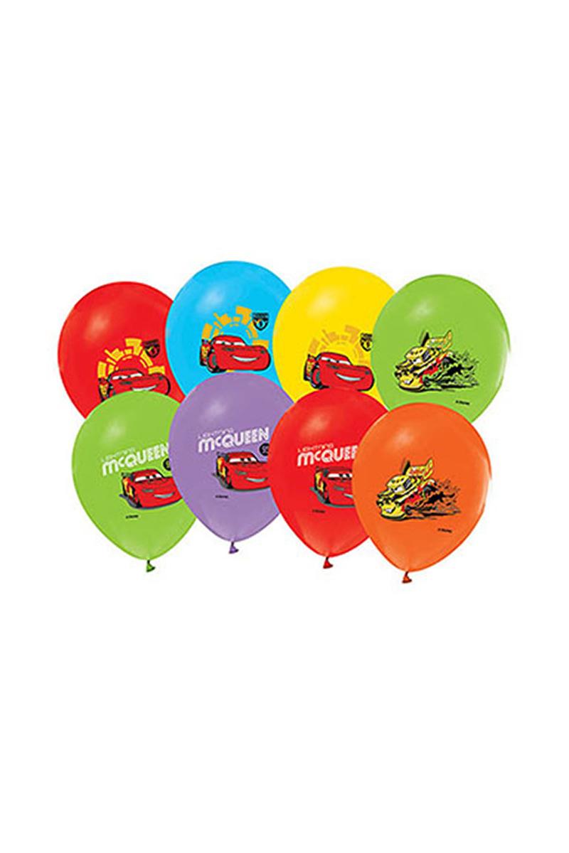 Cars Baskılı Balon 10lu - Thumbnail