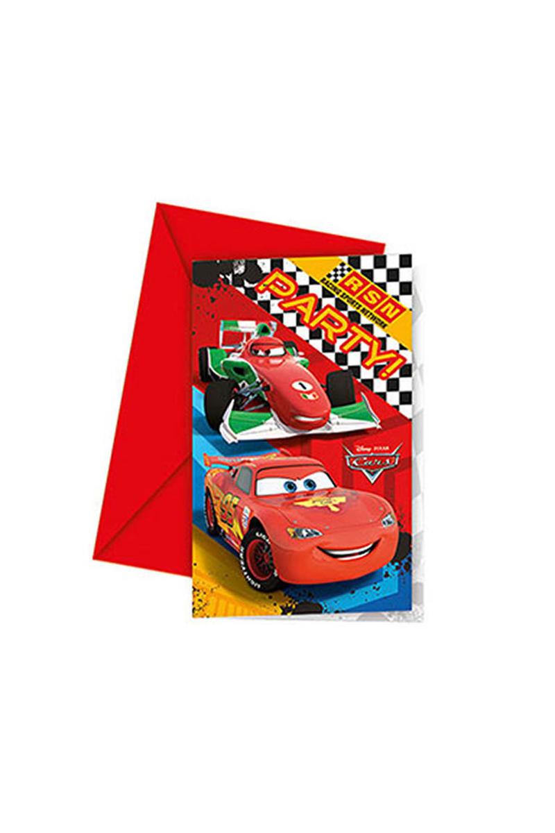 Cars Formula Davetiye 6lı