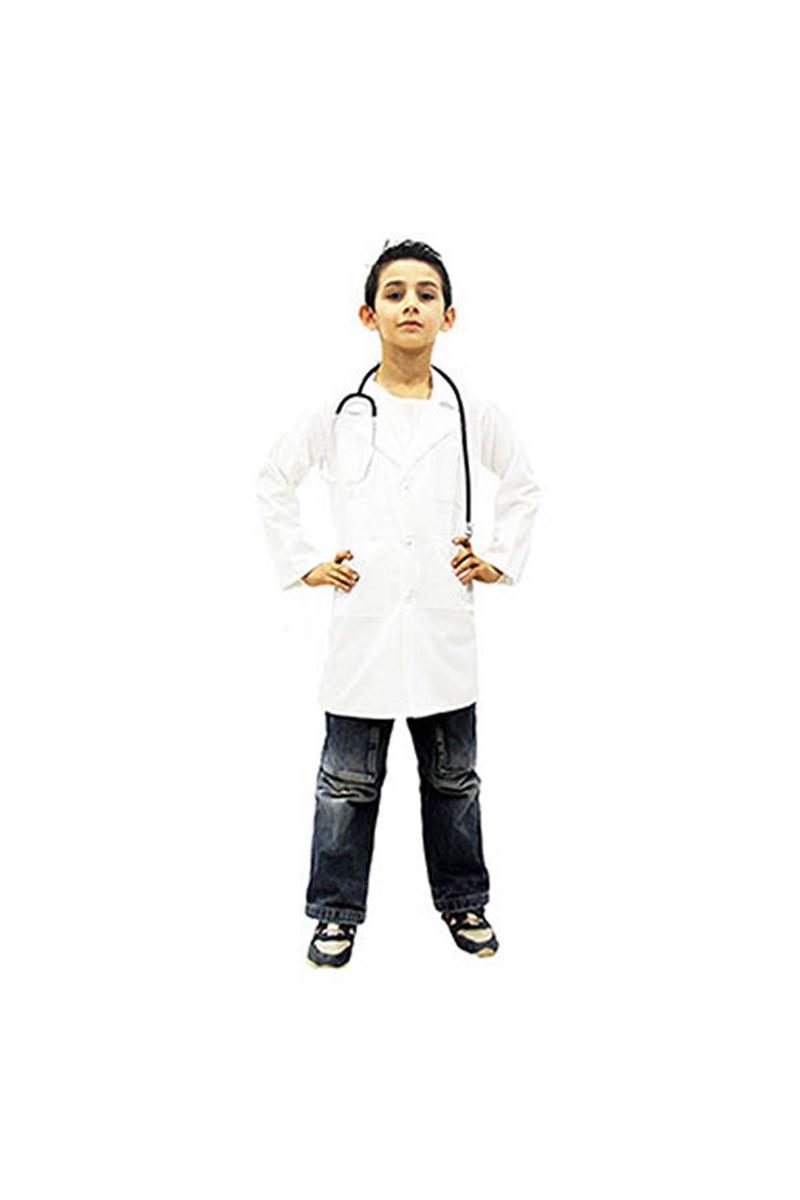 Doktor Önlüğü Çocuk Kostüm 9-10 Yaş 1 Adet