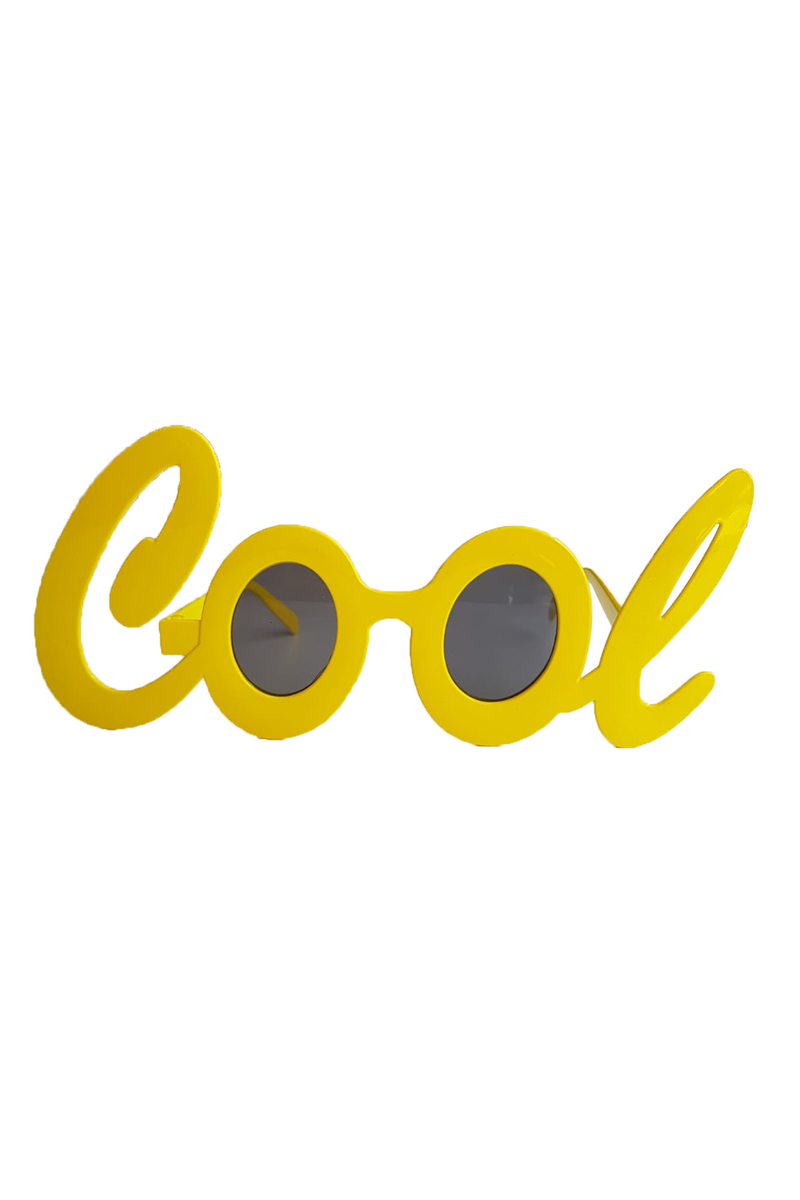 Cool Yazı Gözlük Sarı 1 Adet