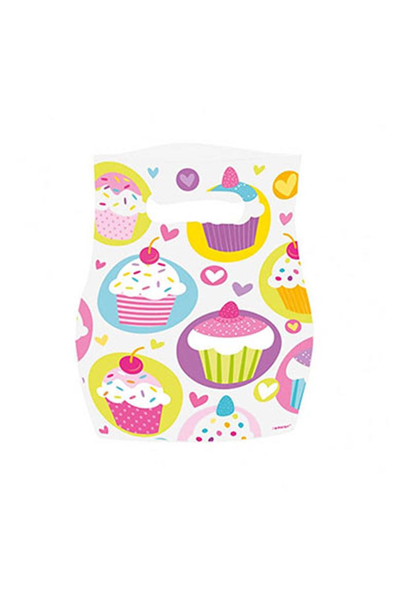Cupcake Partisi Parti Çantası 6lı