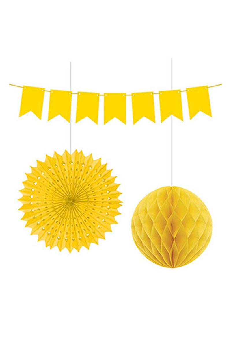 Dekorasyon Süs Seti Sarı 1 Adet - Thumbnail