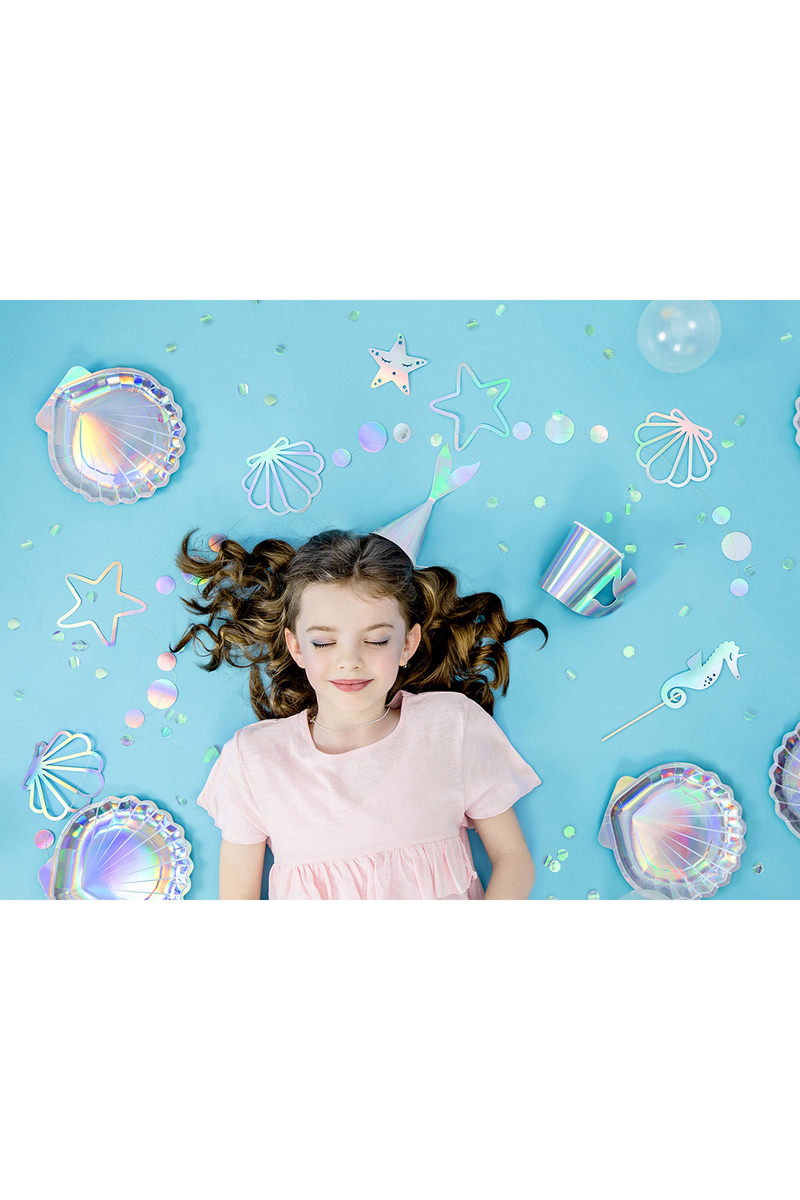 Deniz Kızı Simgeleri Holografik Kağıt Afiş 165cm 1 Adet - Thumbnail