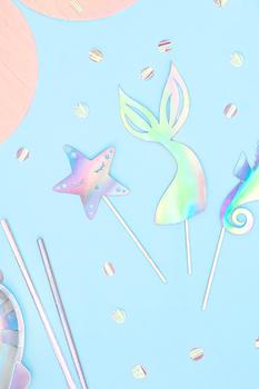 Deniz Kızı Temalı Hologramlı Kürdan 3lü - Thumbnail