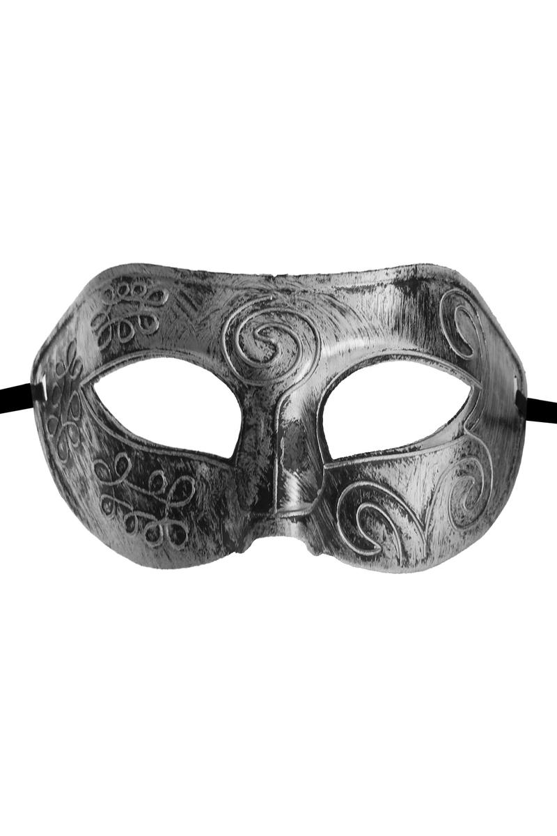 Desenli Lüks Balo Maske Gümüş 1 Adet