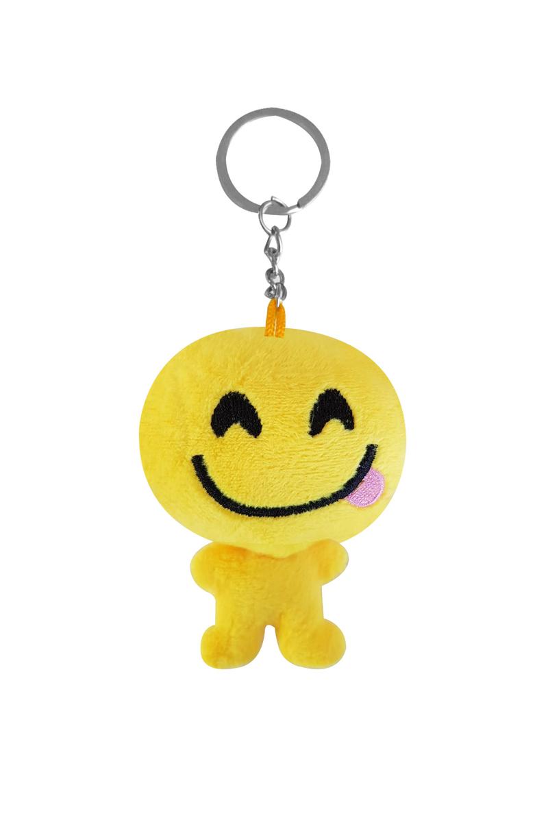 Dil Çıkaran Peluş Emoji Anahtarlık 6cm 1 Adet