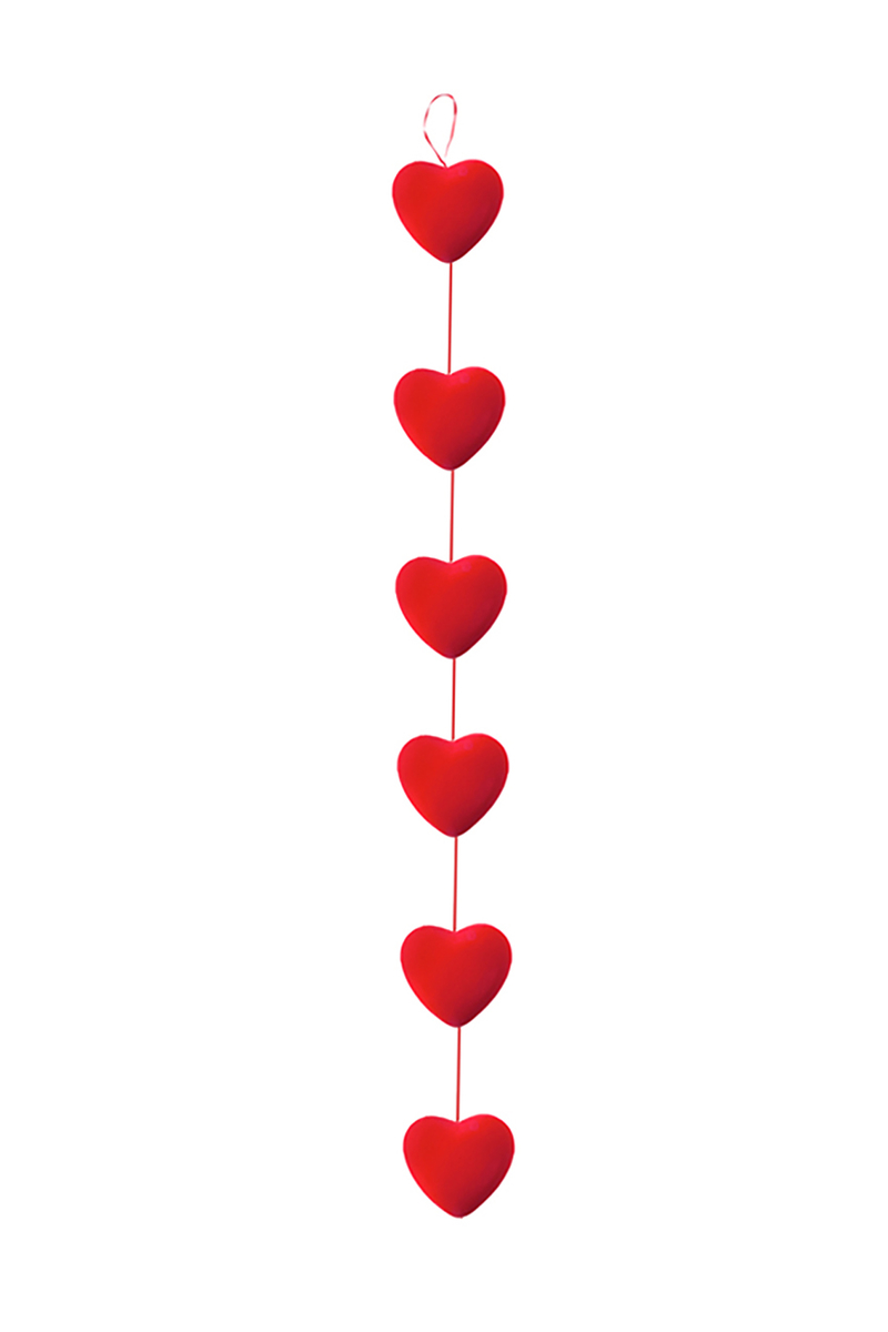 Dizili Kalpler Asma Süs 6lı