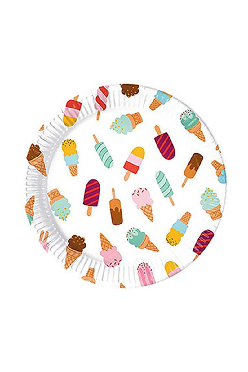 Dondurma Partisi Kağıt Tabak 23cm 8li