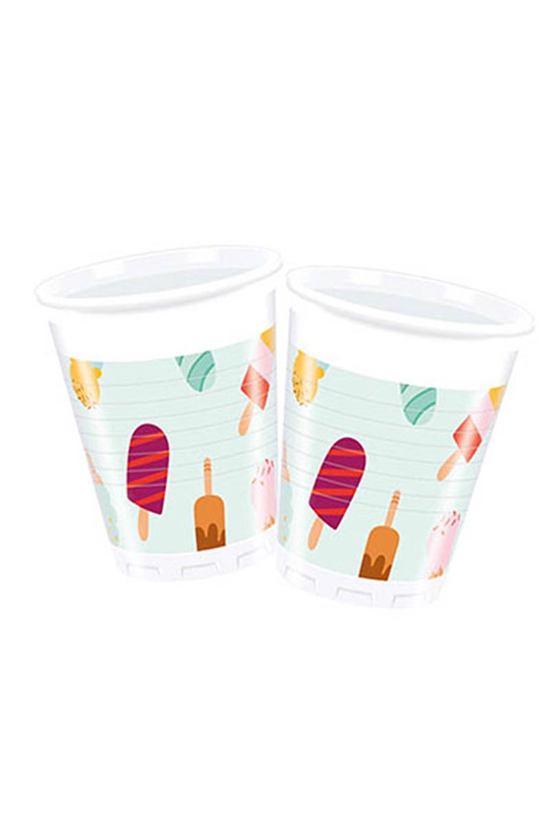 Dondurma Partisi Plastik Bardak 200cc-8oz 8li
