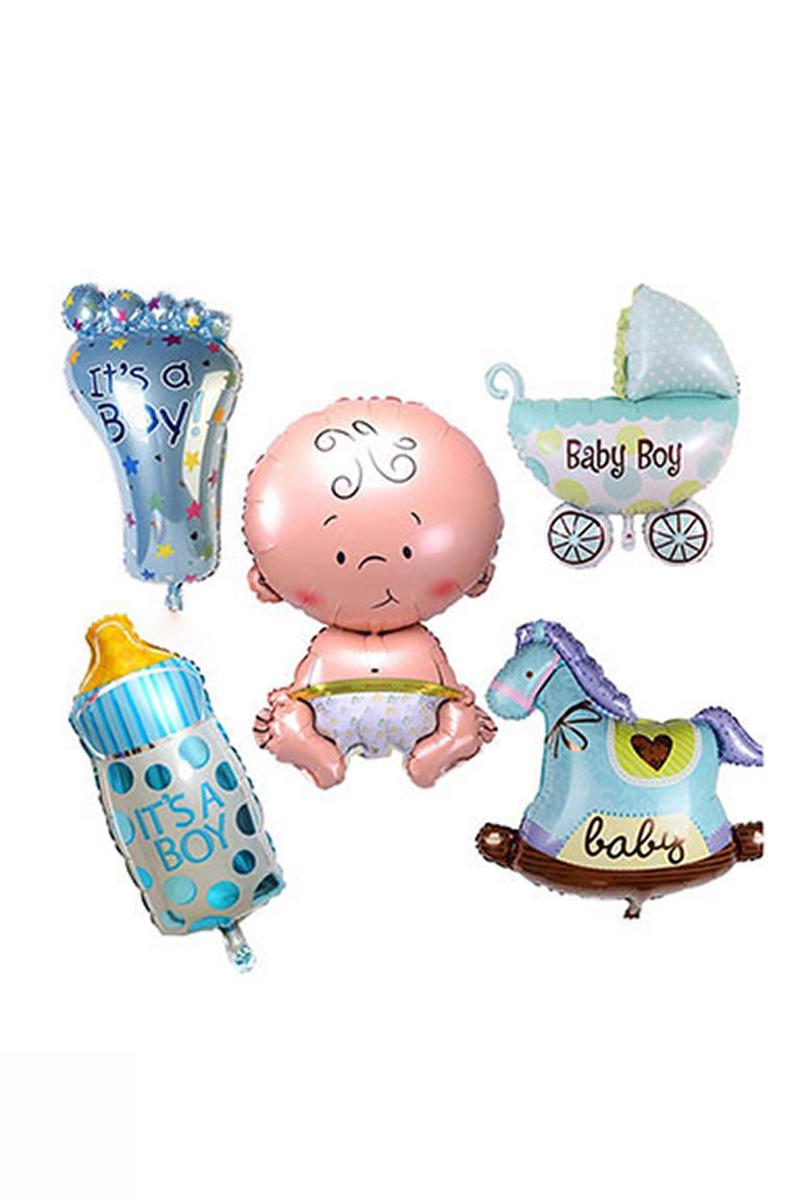 Erkek Bebek Süsleri Folyo Balon Set 35cm 1 Adet