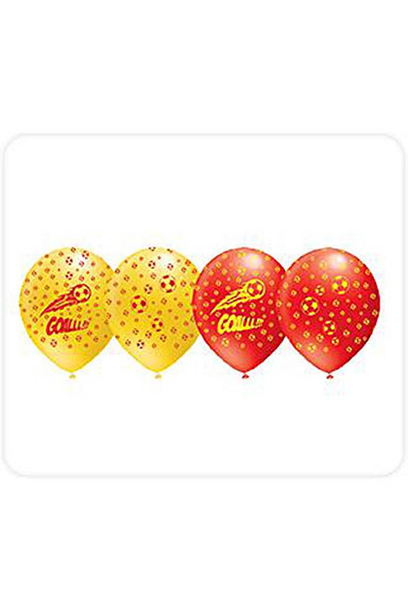 Fanatik Sarı-Kırmızı Baskılı Balon 10lu