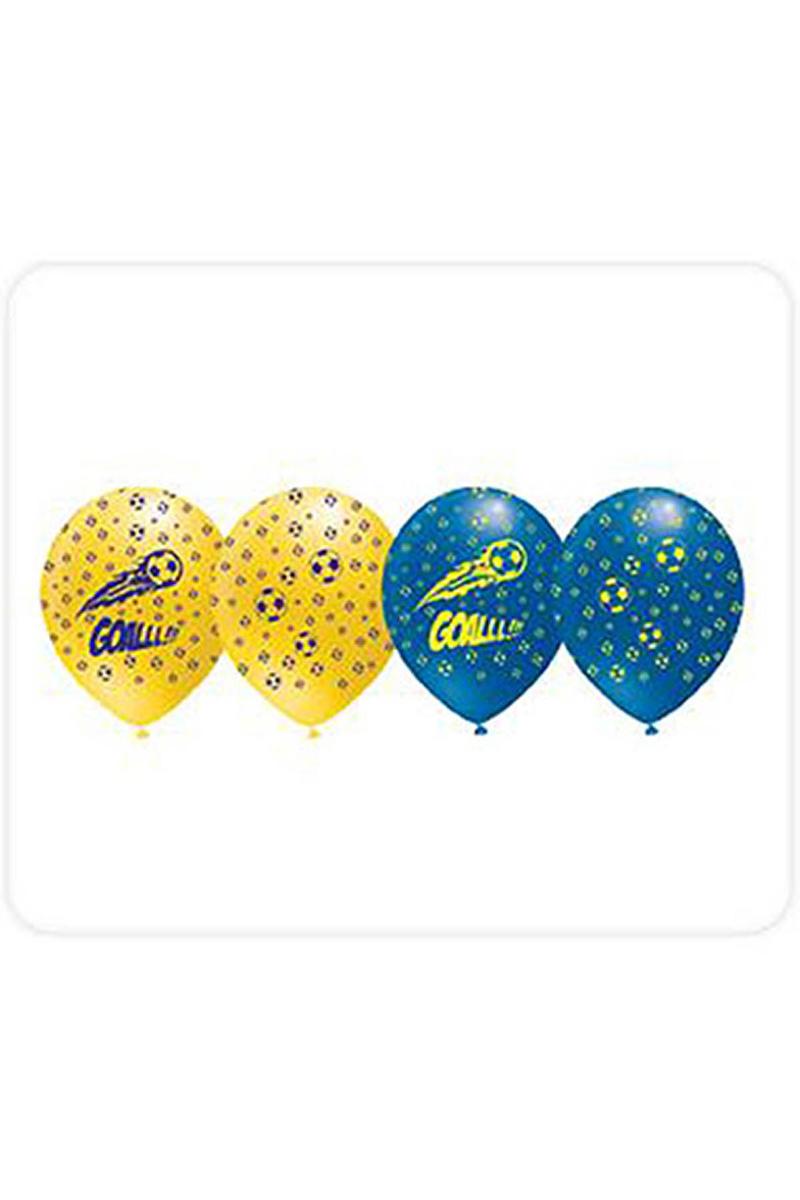 Fanatik Sarı-Lacivert Baskılı Balon 10lu