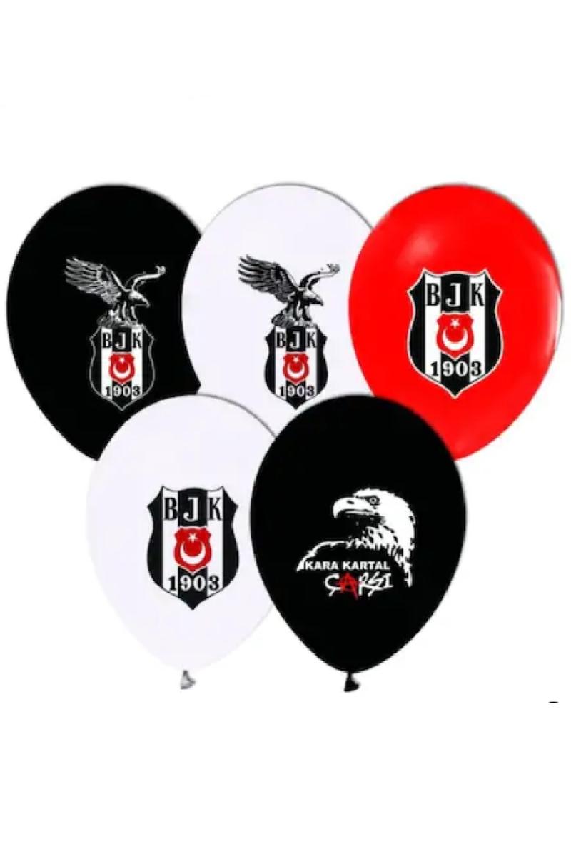 Fanatik Siyah-Beyaz Baskılı Balon 10lu