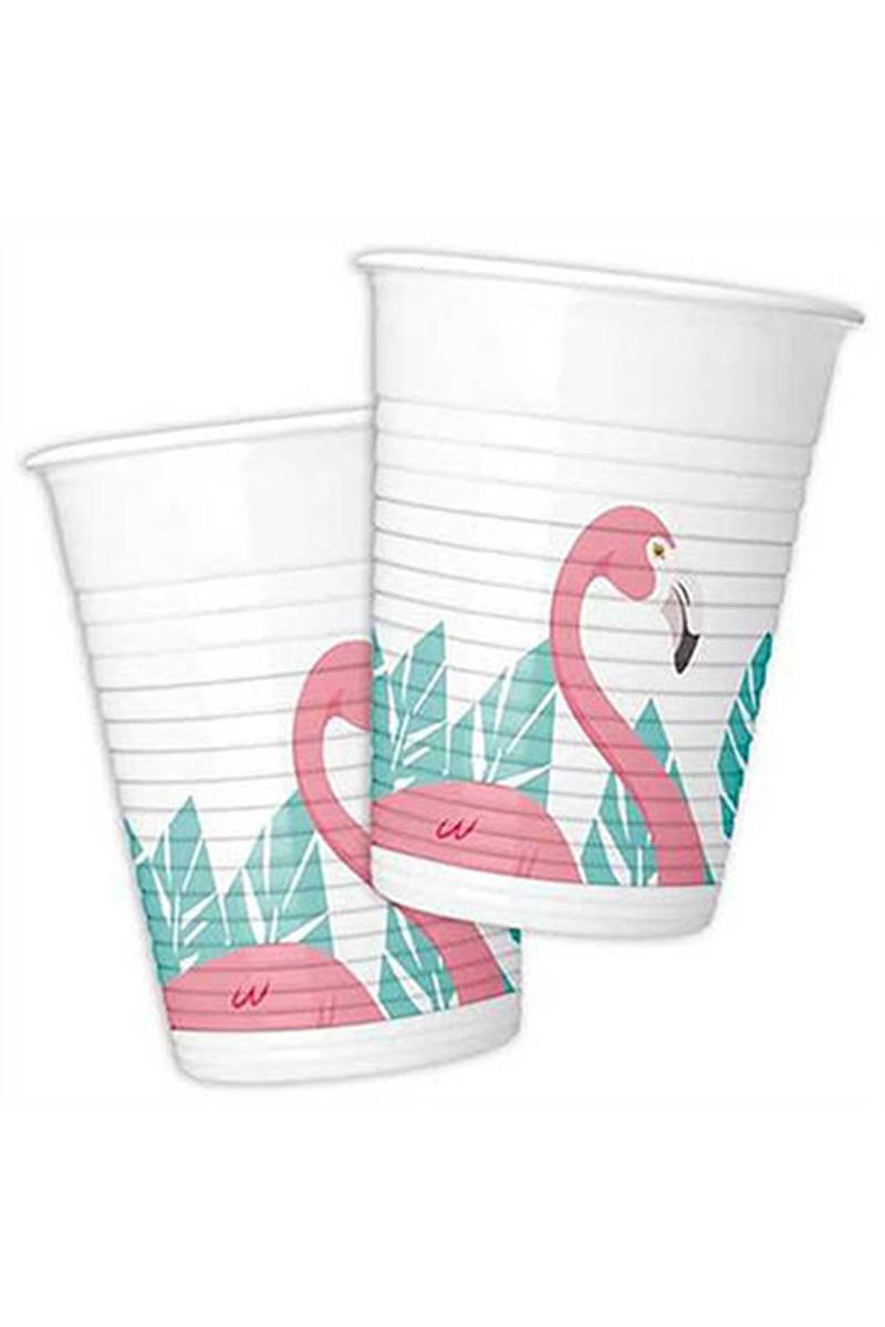 Flamingo Plastik Bardak 200cc-8oz 8li