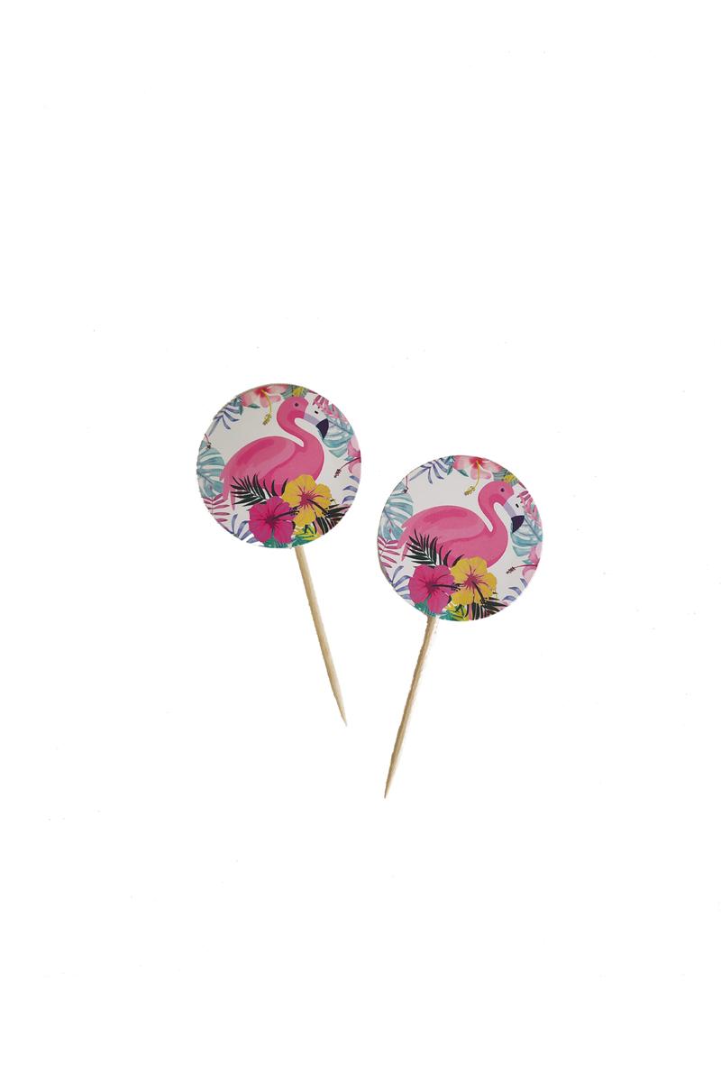 Flamingo Dekoratif Kağıt Kürdan 20li - Thumbnail