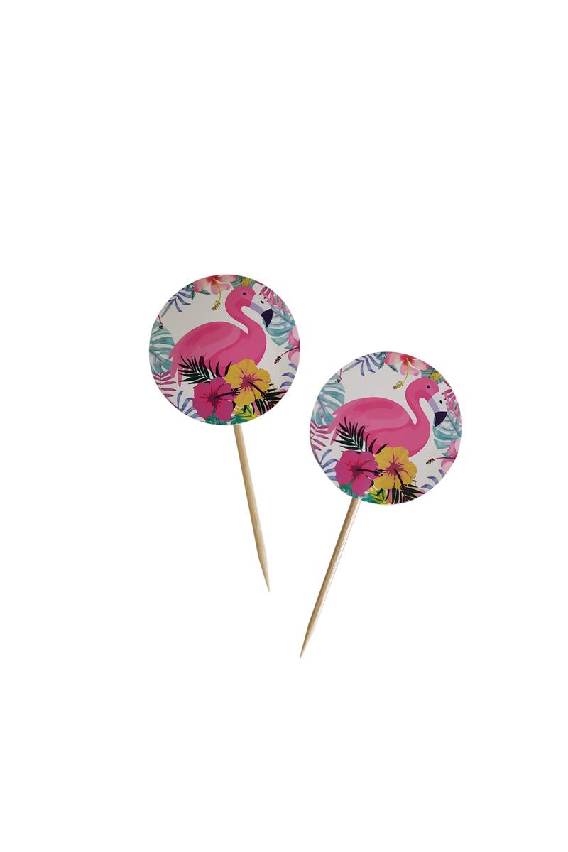 Flamingo Dekoratif Kağıt Kürdan 20li