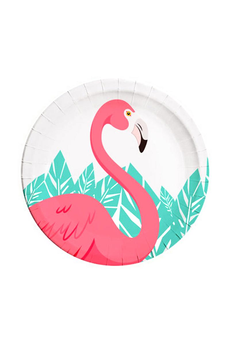 Flamingo Kağıt Tabak 23cm 8li