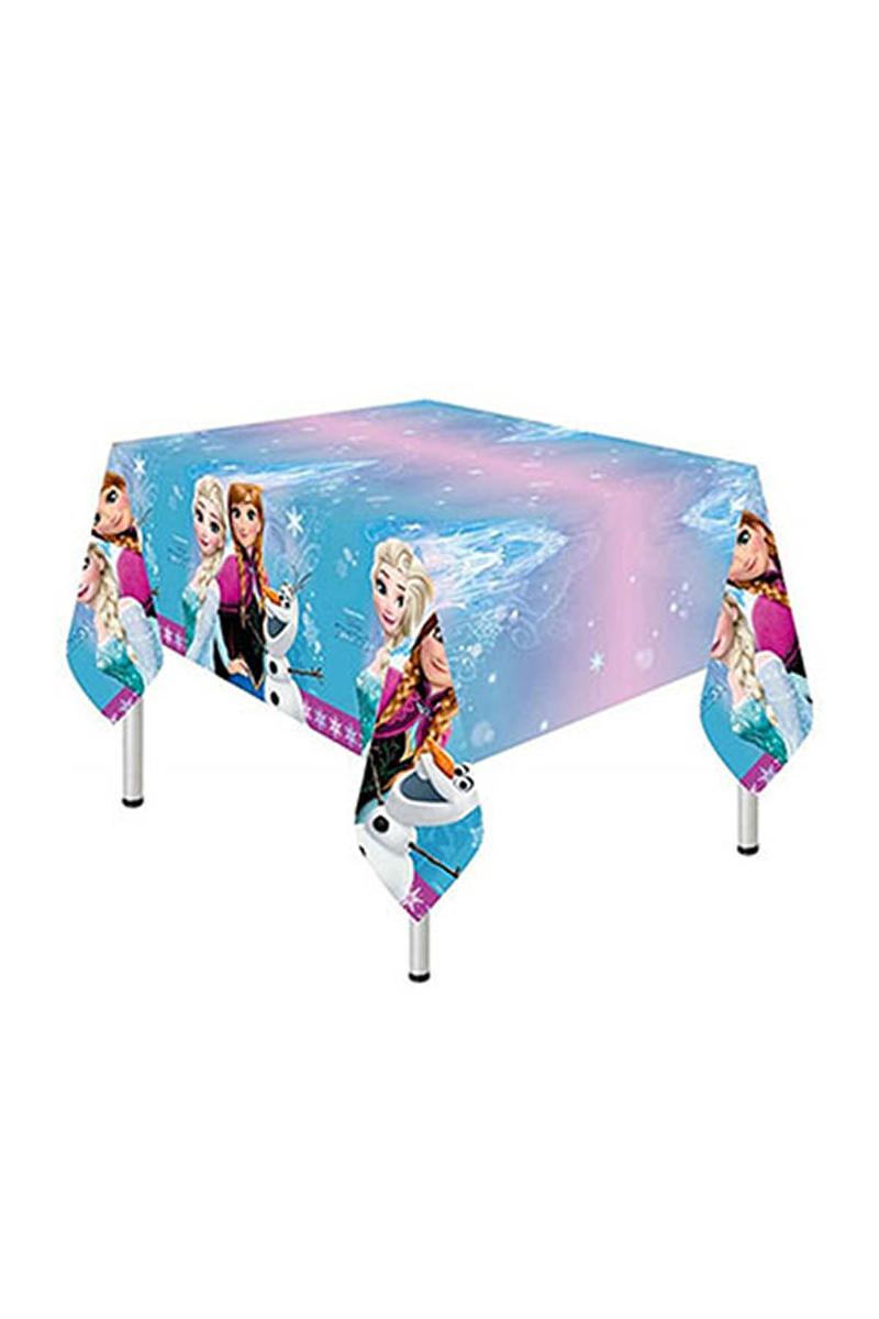 Frozen Buz Işıltısı Plastik Masa Örtüsü 120x180cm 1 Adet - Thumbnail