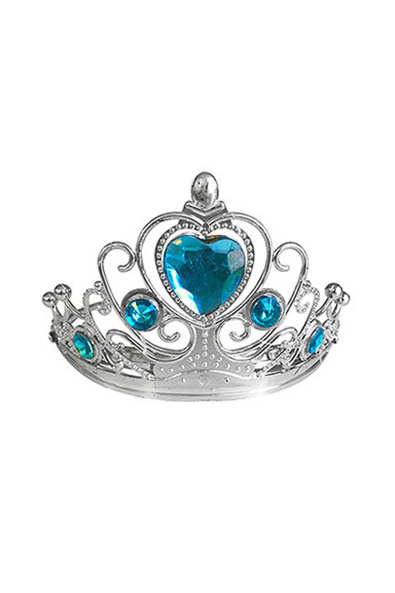 Mavi Kalp Taşlı Taç 1 Adet
