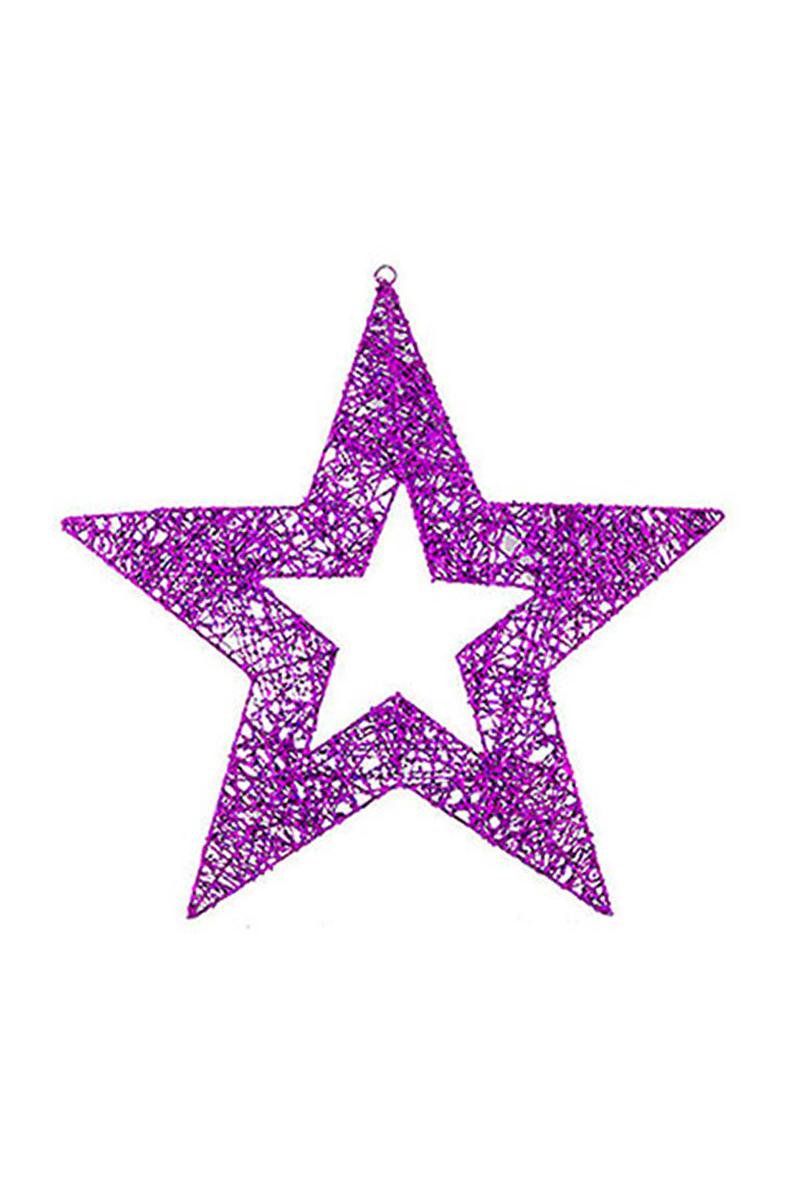 Yıldız Asma Süs Fuşya 60cm 1 Adet