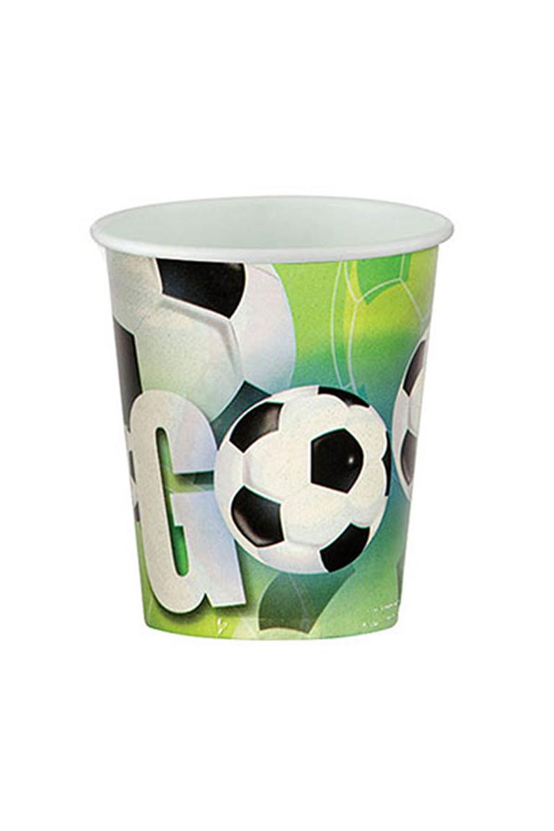 Roll-Up Futbol Partisi Karton Bardak 200cc-8oz 8li