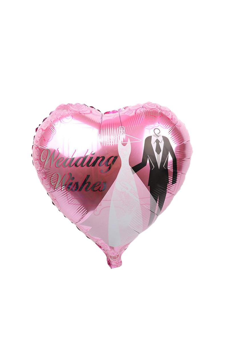Gelin Damat Kalp Folyo Balon 1 Adet