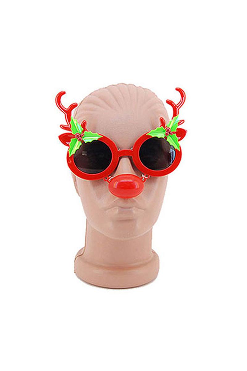 Geyik Burunlu Yılbaşı Gözlük 1 Adet - Thumbnail