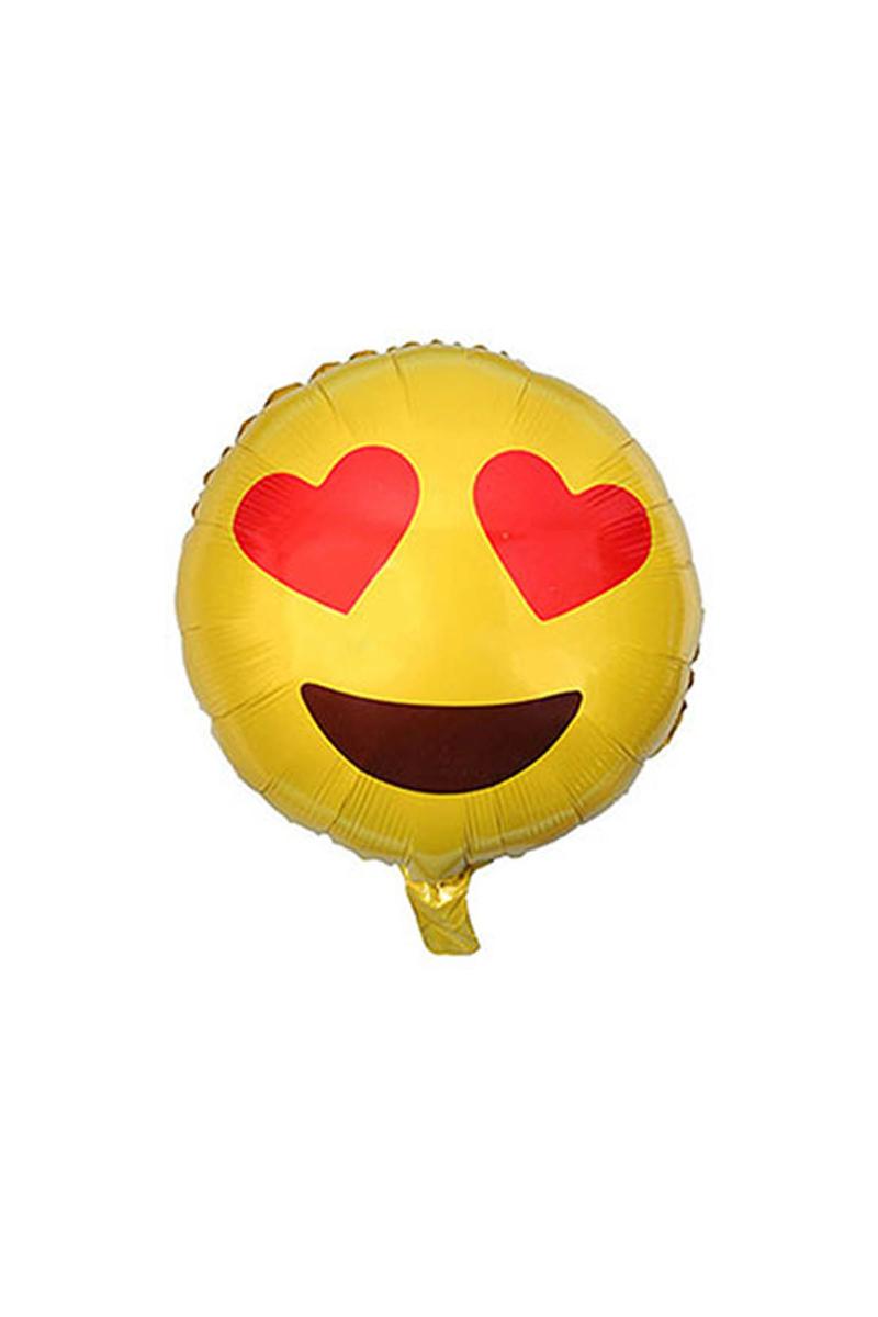 Gözleri Kalp Emoji Folyo Balon 40cm 1 Adet