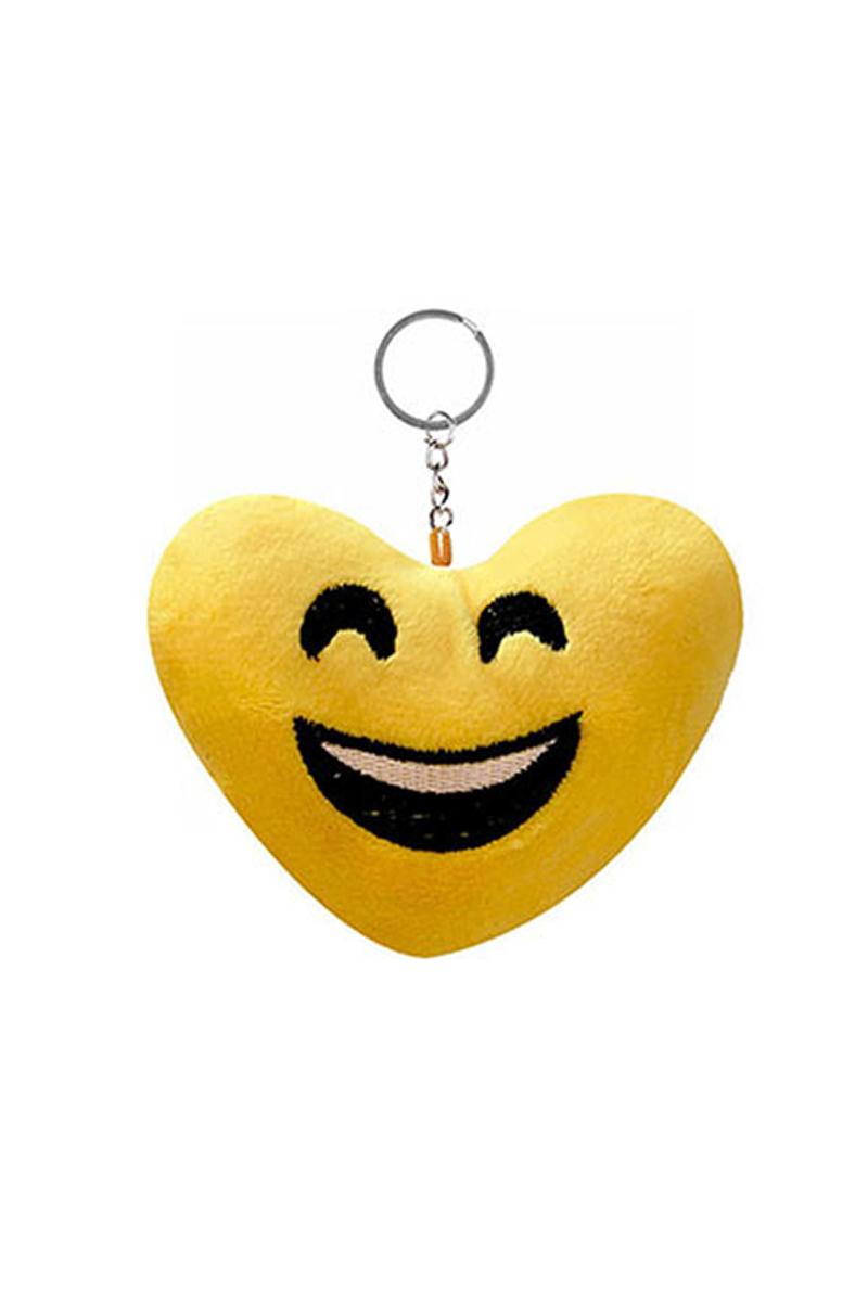 Gülen Yüz Kalp Şeklinde Emoji Anahtarlık 1 Adet