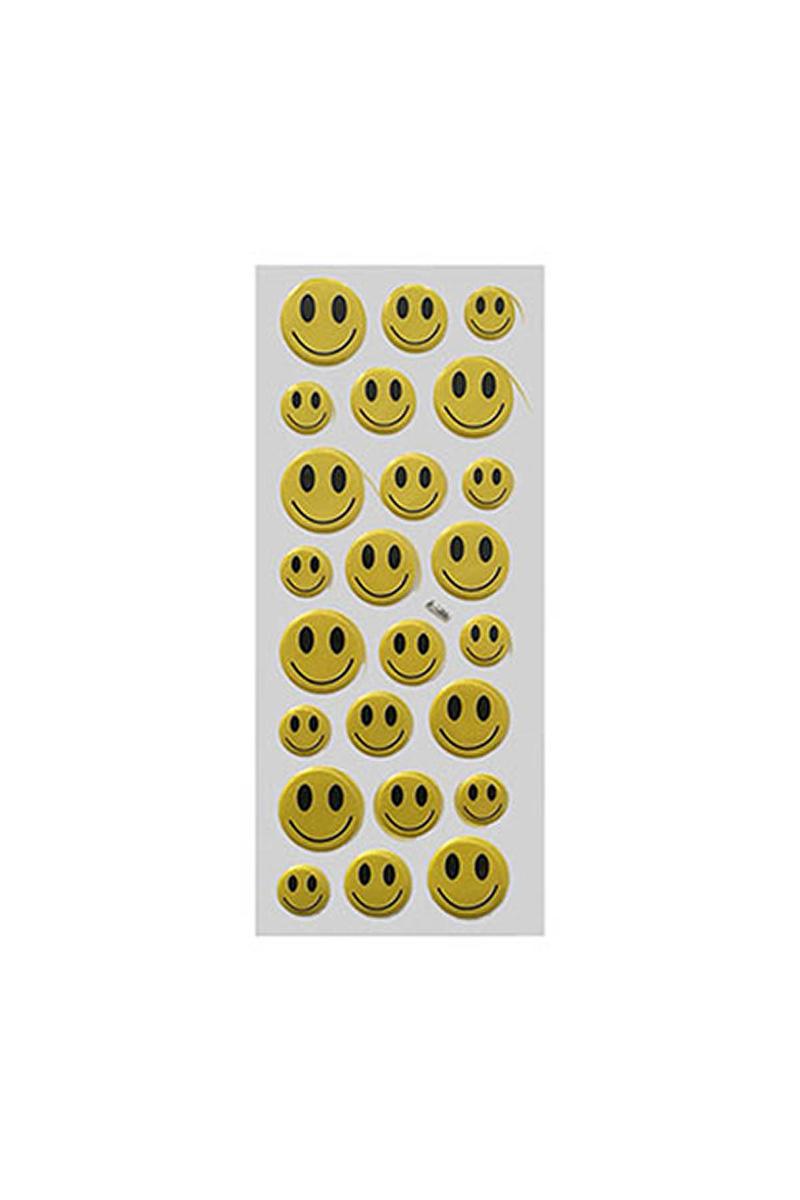 Gülen Yüz Sticker Orta Boy 24lü
