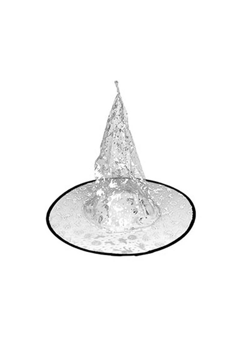 Gümüş Balkabaklı Cadı Şapkası 1 Adet