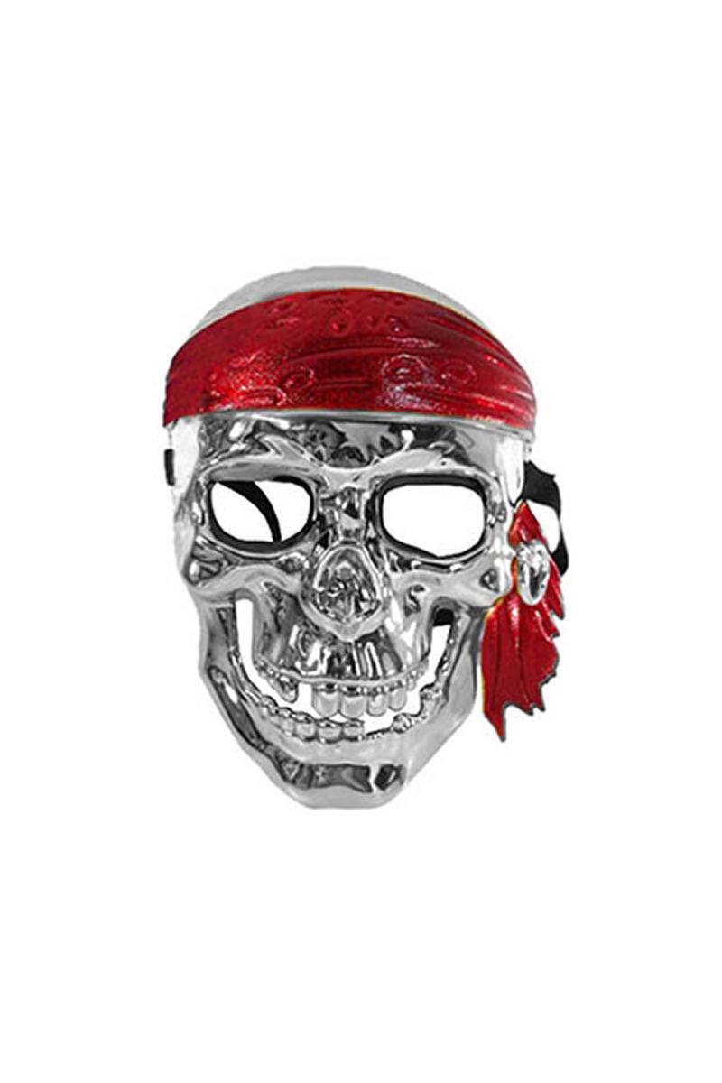 Gümüş Korsan Maske 1 Adet