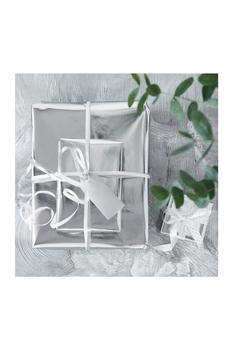 Gümüş Paketleme ve Süs Kagidi 80 x 100cm 5li Paket - Thumbnail