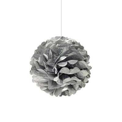Gümüş Ponpon Süs 30 cm