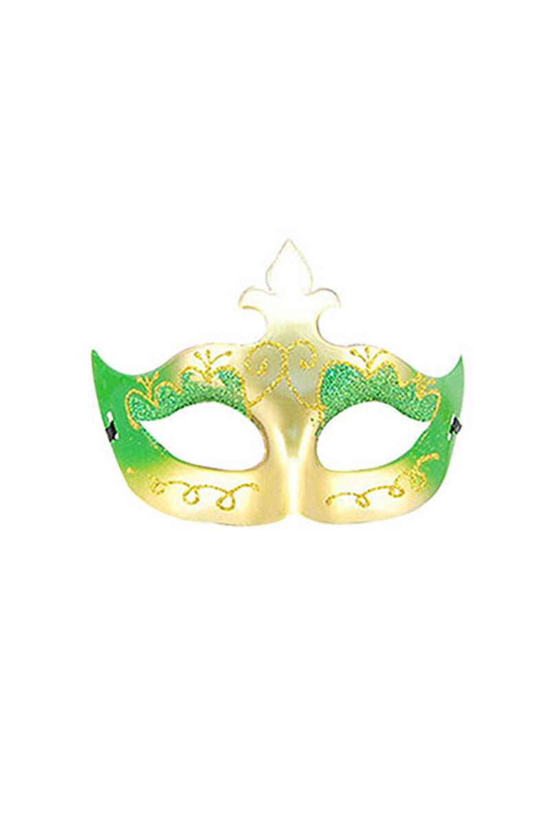 Yeşil Simli Balo Maske 1 Adet