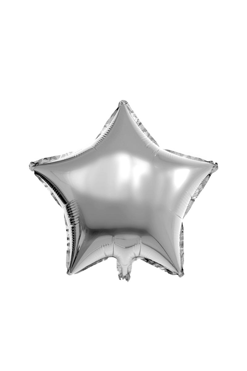 Yıldız Folyo Balon 45cm (18 inch) Gümüş 1 Adet