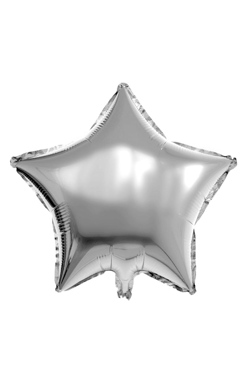 Yıldız Folyo Balon 60cm (22 inch) Gümüş 1 Adet