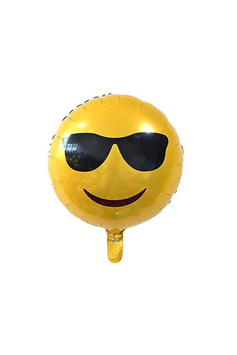 Güneş Gözlüklü Emoji Folyo Balon 40cm 1 Adet
