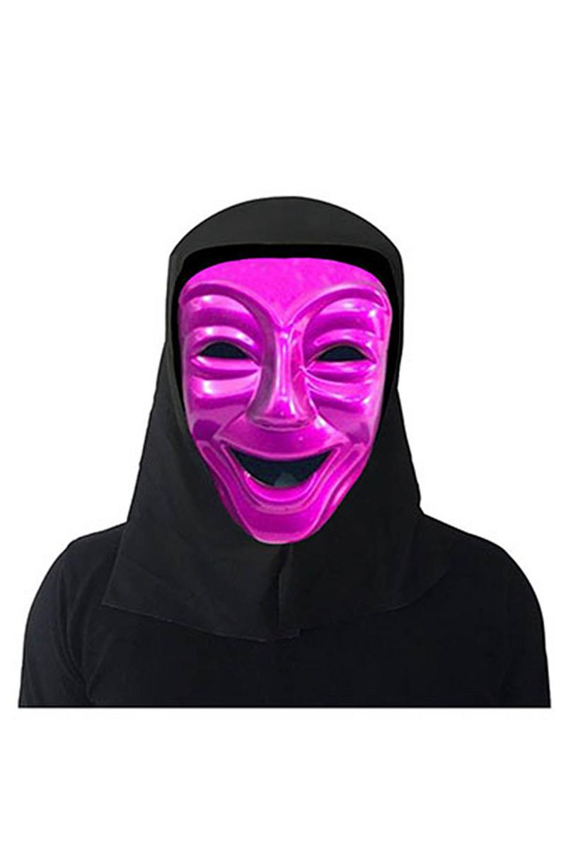 Halloween Ağlayan Yüz Maske Fuşya 1 Adet