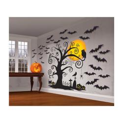 Cadılar Bayramı Sahne Dekor Kiti 32 parça 165cm x 85cm - Thumbnail
