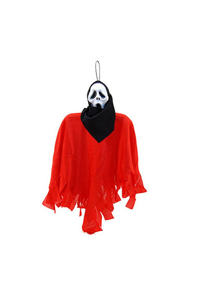 Halloween Hayalet İskelet Asma Süs Kırmızı 45cm. 1 Adet