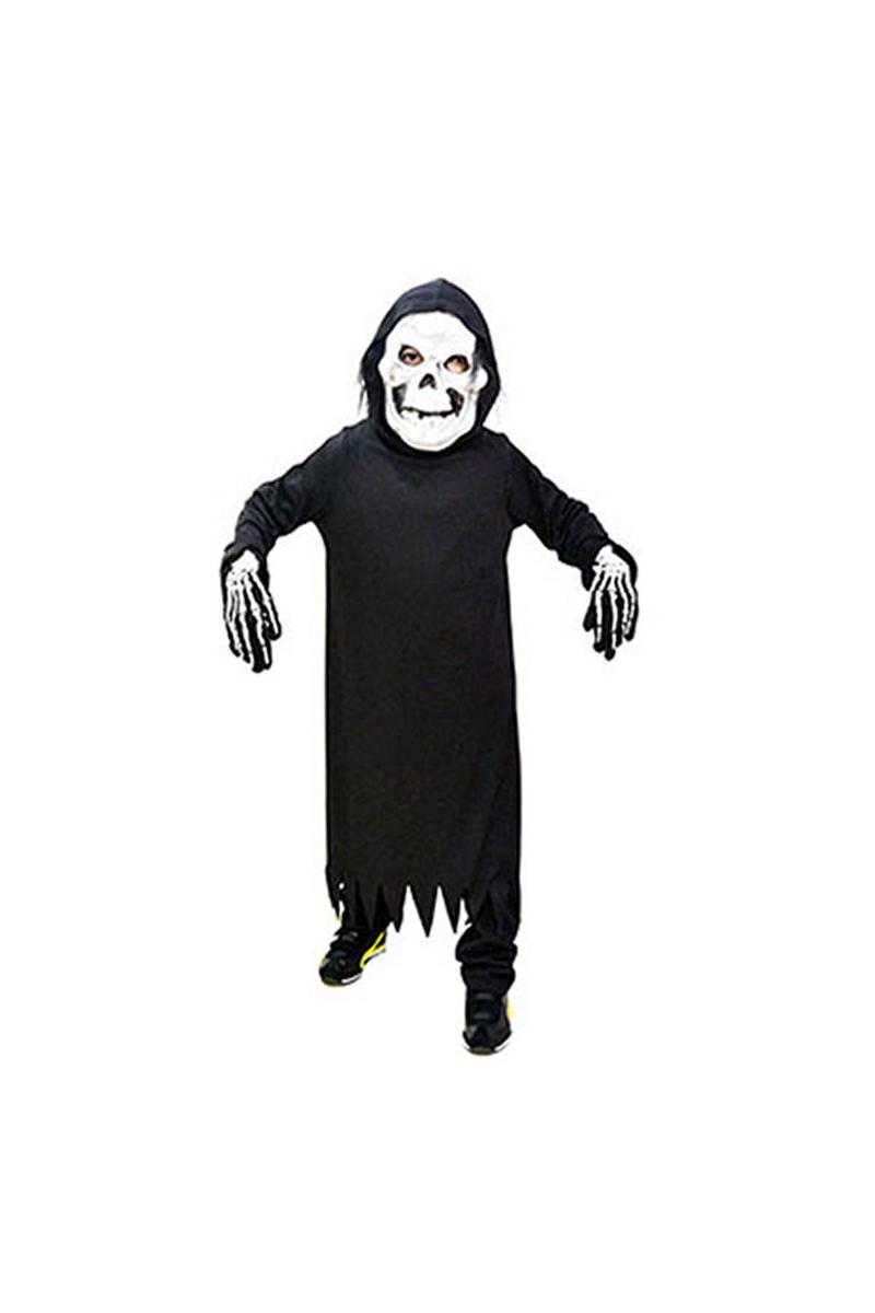 Halloween Hayalet İskelet Kostümü 7-9 Yaş 1 Adet