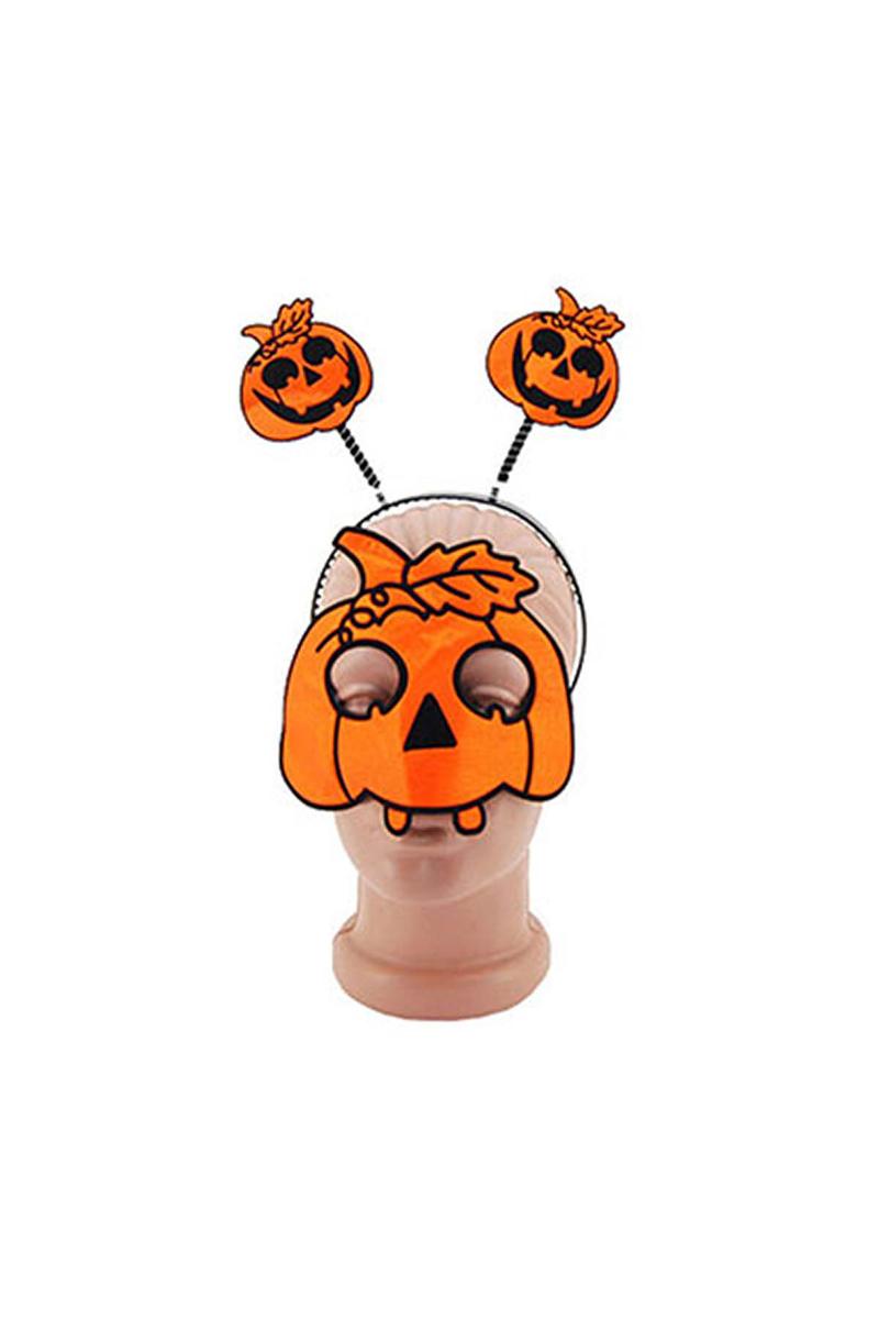 Halloween Maske Taç Takım Balkabağı Figürlü 1 Adet