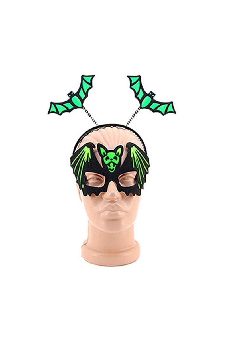 Halloween Maske Taç Takım Yarasa Figürlü 1 Adet