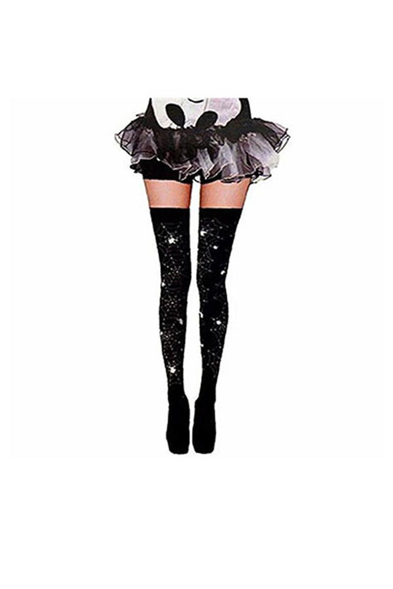 Cadılar Bayramı-Halloween Örümcek Ağı Çorap 1 Çift
