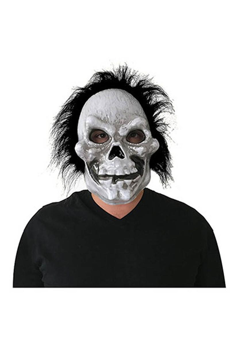 Cadılar Bayramı-Halloween Saçlı Kurukafa Eva Maske 1 Adet