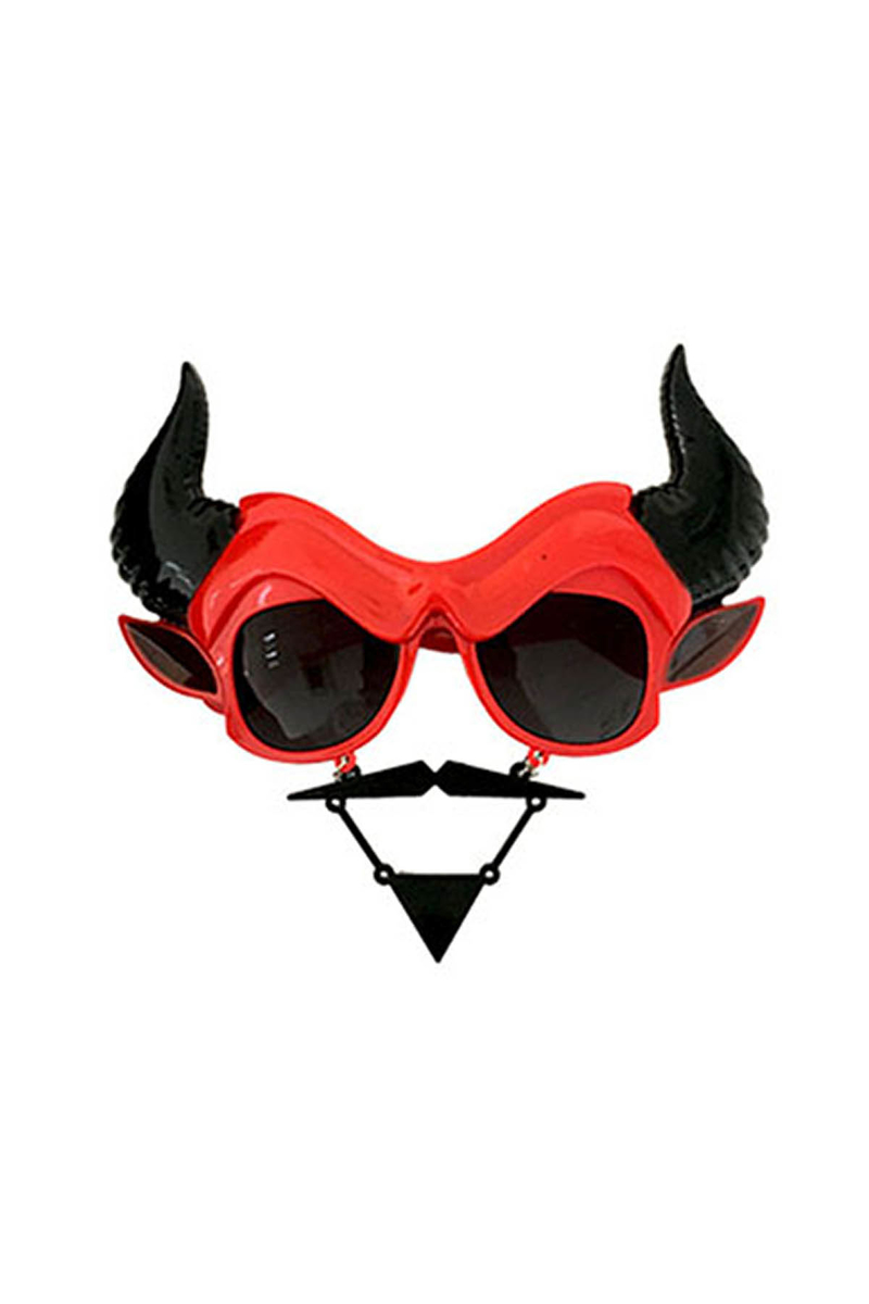 Cadılar Bayramı-Halloween Şeytan Gözlük 1 Adet - Thumbnail