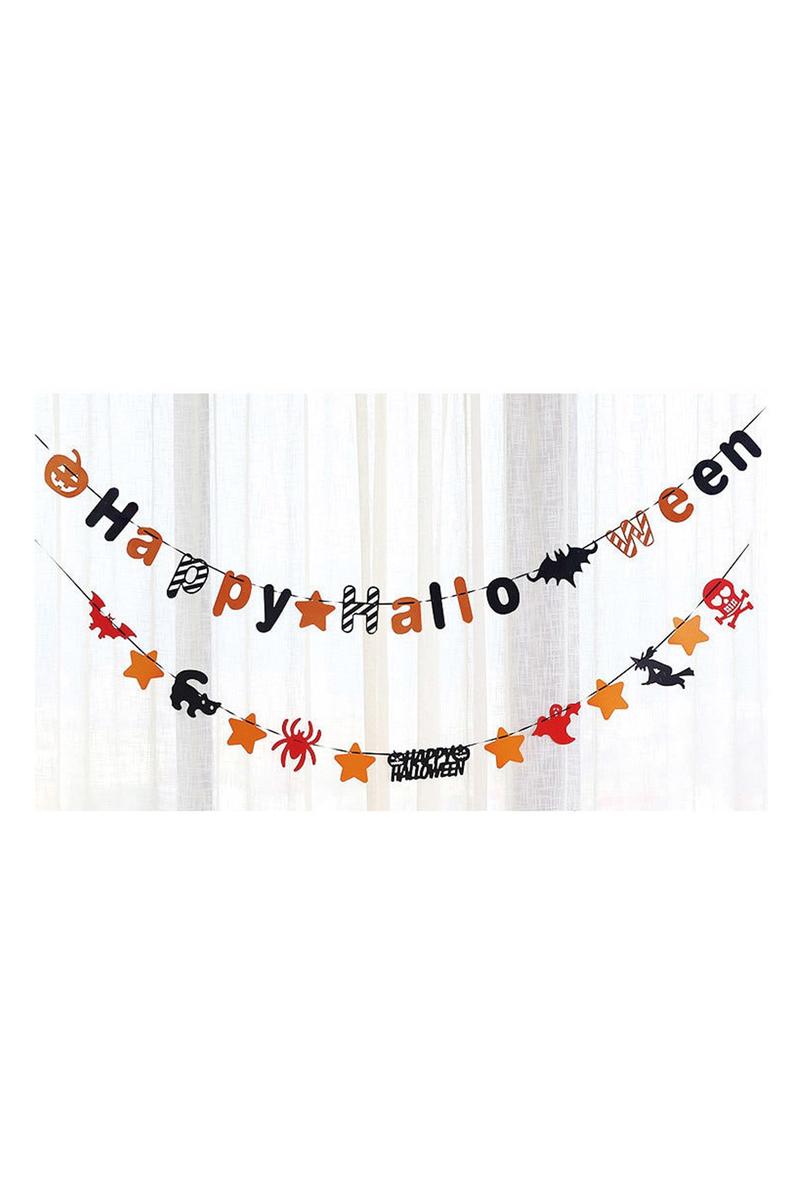 Halloween Süslü Happy Halloween Kağıt Harf Afiş 1 Adet