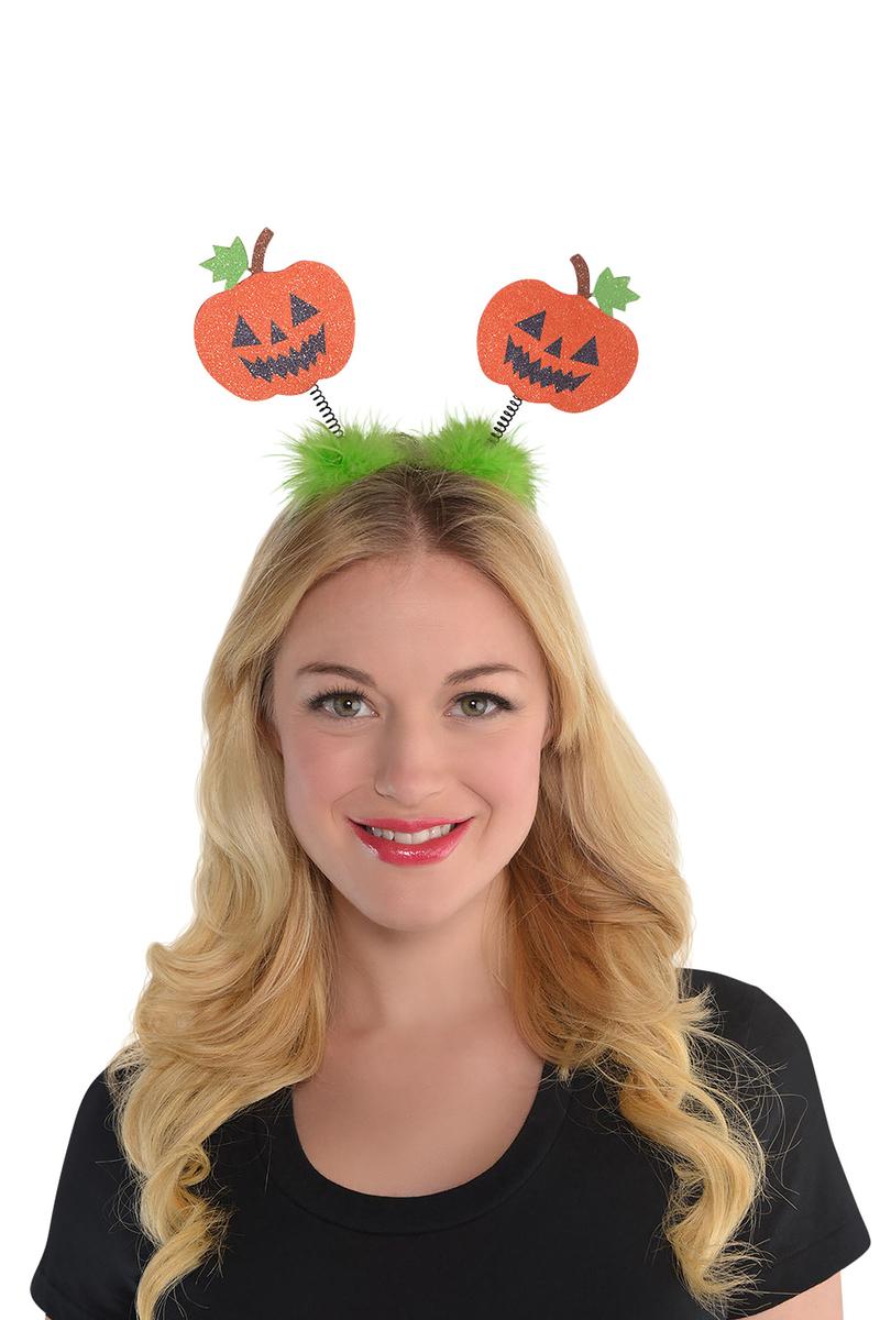 Halloween Tüylü Balkabağı Taç 1 Adet