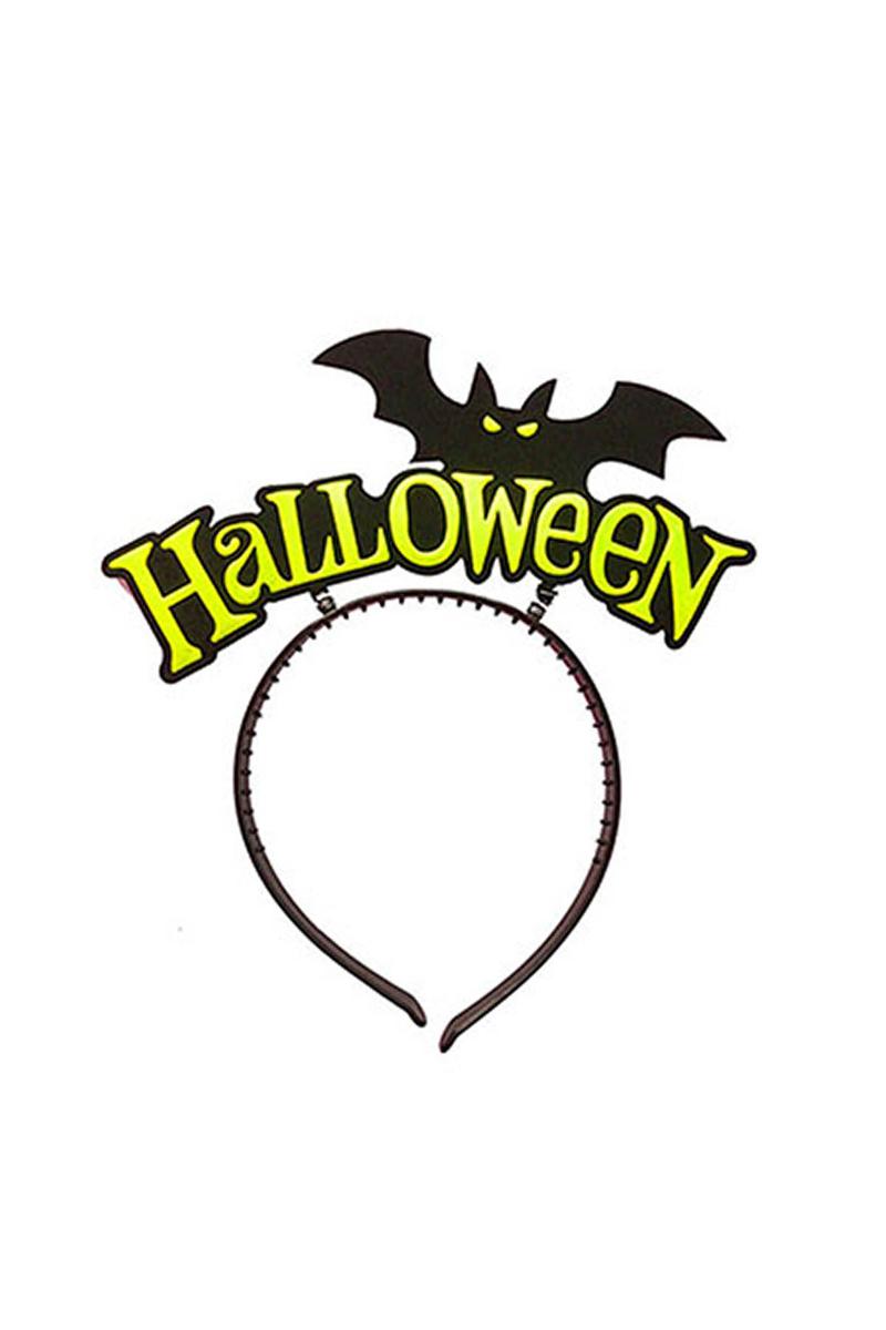 Cadılar Bayramı - Halloween Yarasa Sarı Parti Taç 1 Adet